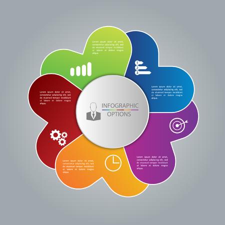Infographic business template, development, elements Illustration