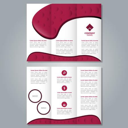 Brochure design template, vector file, editable file Illustration