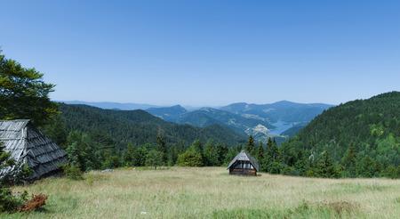 tara: A beautiful view of the mountain Tara and lake Zaovine