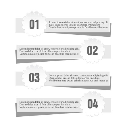 paper: Modern infographic stickers newspaper style design template vector illustration