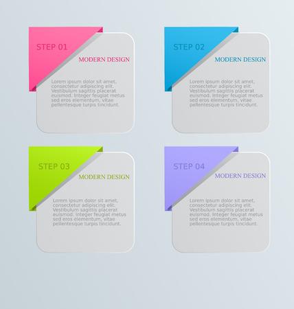 Moderne Inforgraphics Vorlage. Kann Für Banner, Website-Vorlagen Und ...