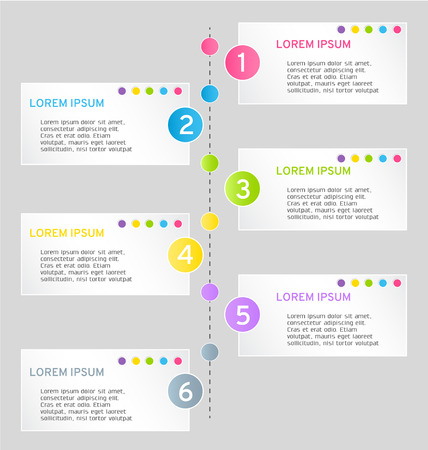 web design template: Modern infographics colorful web design template with shadow vector illustration Illustration