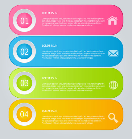 business education: Infographics template for business, education, web design, banners, brochures, flyers. Vector illustration.