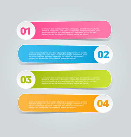 number button: Infographics template for business, education, web design, banners, brochures, flyers. Vector illustration.