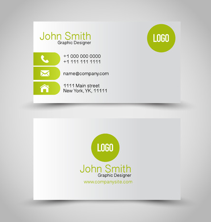 Business card set template.