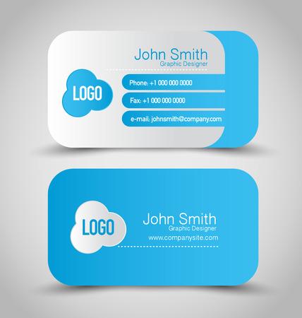 business card: Business card set template.