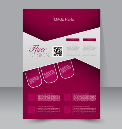 Modèle Flyer. brochure d'affaires. Affiche A4 modifiable pour la conception, de l'éducation, de présentation, site internet, couverture de magazine. Couleur rouge. Vecteurs