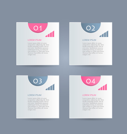 Business Infographics Tabs Template For Presentation Education
