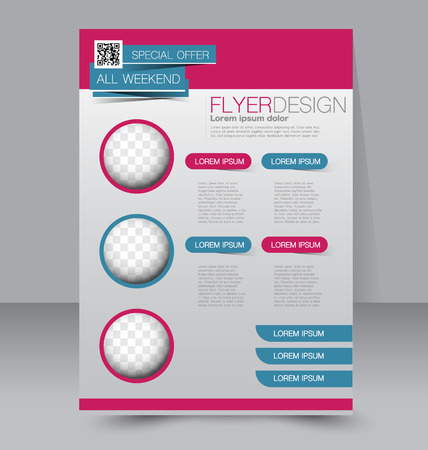 brochure cover: Flyer template. Business brochure. Editable A4 poster for design, education, presentation, website, magazine cover. Red and green color.