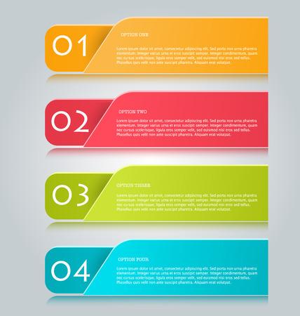 folleto: Infografías negocio pestañas plantilla para la presentación, la educación, diseño de páginas web, banners, folletos, volantes. Ilustración del vector. Vectores