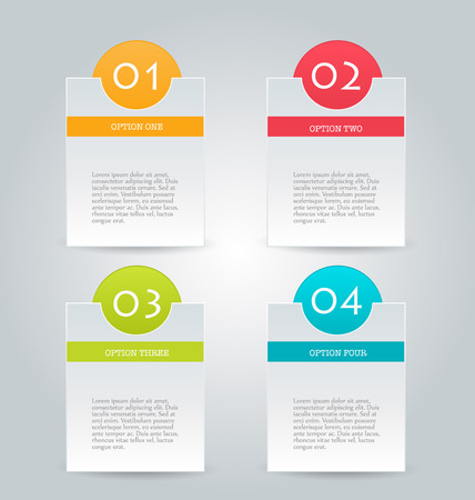 banners web: Business infographics tabs template for presentation, education, web design, banners, brochures, flyers. Vector illustration.