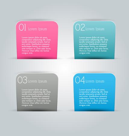 tabs: Business infographics tabs template for presentation, education, web design, banner, brochure, flyer. Vector illustration.