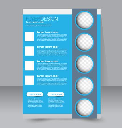 education background: Flyer template. Business brochure. Editable A4 poster for design, education, presentation, website, magazine cover. Blue color.