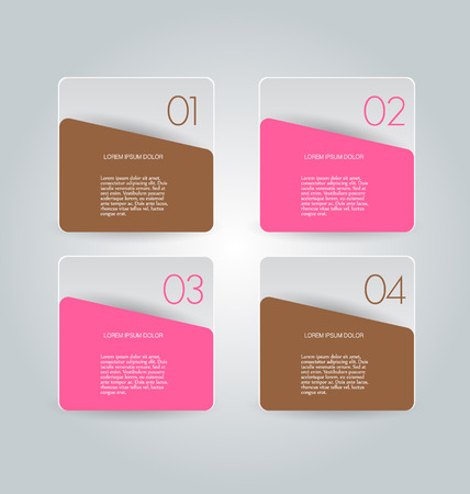 inforgraphic: Business infographics template for presentation, education, web design, banners, brochures, flyers. Brown and pink colors. Vector illustration. Illustration
