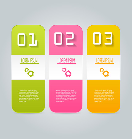 tabs: Business infographics tabs template for presentation, education, web design, banners, brochures, flyers. Vector illustration.