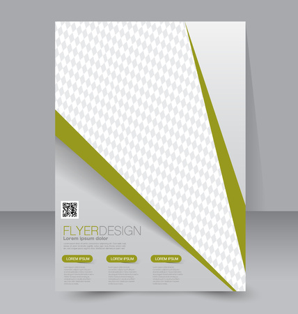 magazine: Flyer template. Business brochure. Editable A4 poster for design, education, presentation, website, magazine cover. Green color.