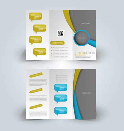 Brochure Mock Up Design Template For Business, Education ...