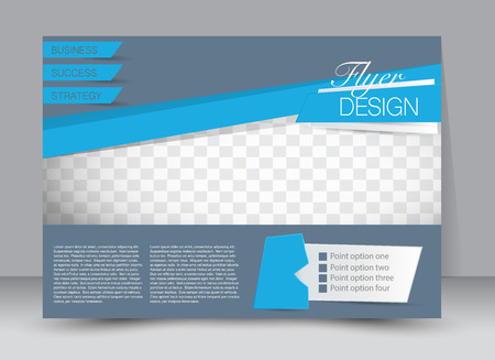 Flyer, brochure, magazine cover template design landscape orientation for education, presentation, website. Blue color. Editable vector illustration. Illustration