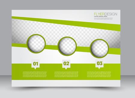 magazine design: Flyer, brochure, magazine cover template design landscape orientation for education, presentation, website. Green color. Editable vector illustration.