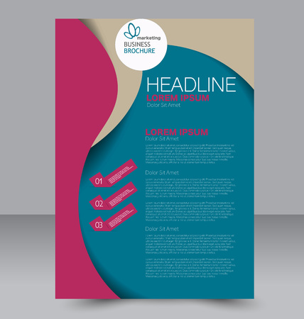 double page: Abstract flyer design background. Brochure template. Can be used for magazine cover, business mockup, education, presentation, report. Blue and red color.