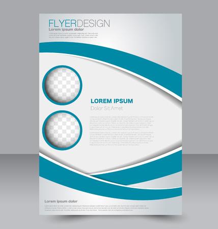Zusammenfassung Flyer Design-Hintergrund. Broschüre Vorlage. Kann für Magazin-Cover, Business-Mockup, Bildung, Präsentation, Bericht verwendet werden. Blaue Farbe.