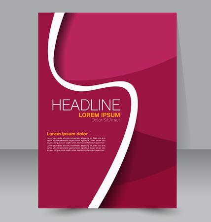 portadas de libros: Resumen volante de diseño de fondo. Modelo del folleto. Puede ser utilizado para la portada de una revista, maqueta de negocios, educación, presentación, informe. Color rojo. Vectores