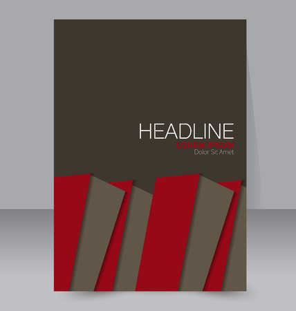 book background: Abstract flyer design background. Brochure template. Can be used for magazine cover, business mockup, education, presentation, report. Brown and red color. Illustration