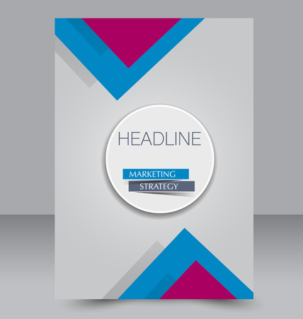 double page: Abstract flyer design background. Brochure template. Can be used for magazine cover, business mockup, education, presentation, report. Pink and blue color.