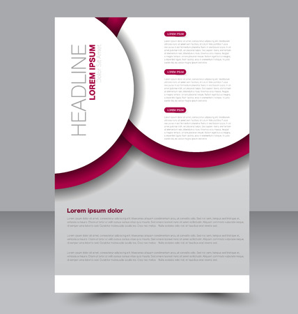 two page: Abstract flyer design background. Brochure template. To be used for magazine cover, business mockup, education, presentation, report.  Red color.