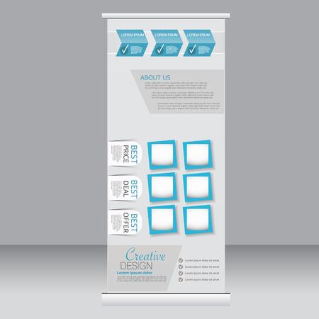 Roll Up Banner Stand Vorlage. Zusammenfassung Hintergrund Für Design ...