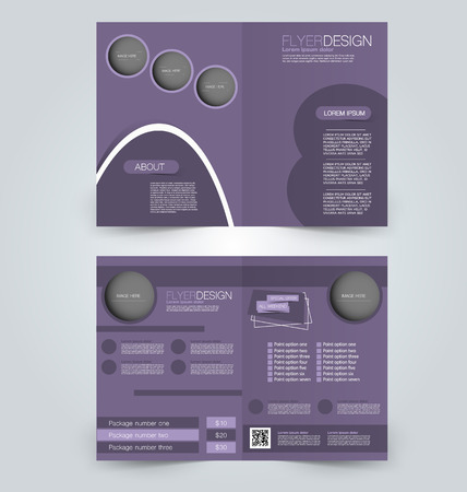 Abstract flyer design background. Brochure template. Can be used for magazine cover, business mockup, education, presentation, report. Purple color.