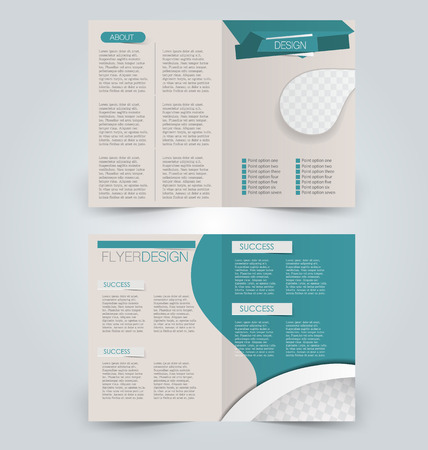 be green: Abstract flyer design background. Brochure template. Can be used for magazine cover, business mockup, education, presentation, report. Green color. Illustration