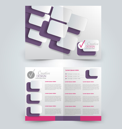 Abstract flyer design background. Brochure template. Can be used for magazine cover, business mockup, education, presentation, report. Pink and purple color.