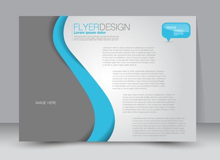 Flyer, brochure, magazine cover template design landscape orientation for education, presentation, website. Blue color. Editable vector illustration. Illustration