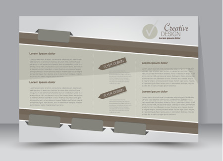 flyer brochure billboard template design landscape orientation