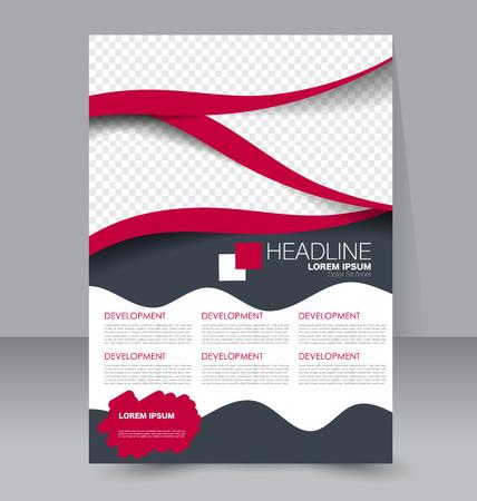 portadas de libros: Resumen volante de diseño de fondo. Modelo del folleto. Para ser utilizado para la cubierta de la revista, maqueta de negocios, educación, presentación, informe. de color rojo y gris. Vectores