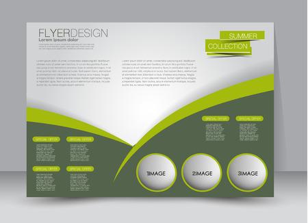 orientation: Flyer, brochure, billboard template design landscape orientation for education, presentation, website. Green color. Editable vector illustration. Illustration