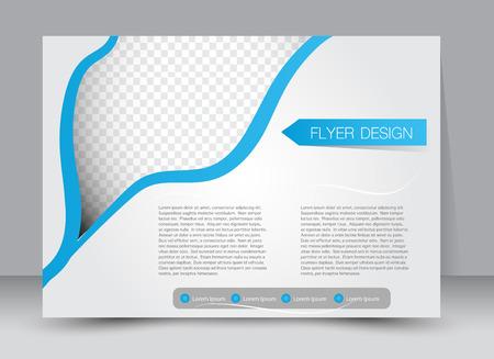 eyelids: Flyer, brochure, magazine cover template design landscape orientation for education, presentation, website. Blue color. Editable vector illustration. Illustration