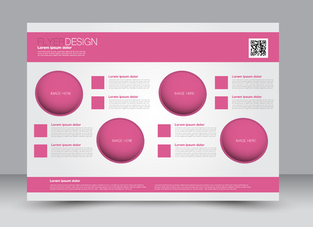 good shepherd: Flyer, brochure, billboard, magazine cover template design landscape orientation for education, presentation, website. Pink color. Editable vector illustration. Illustration
