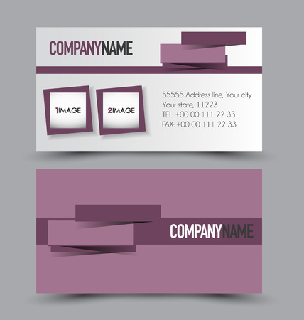 calling art: Business card design set template for company corporate style. Vector illustration.