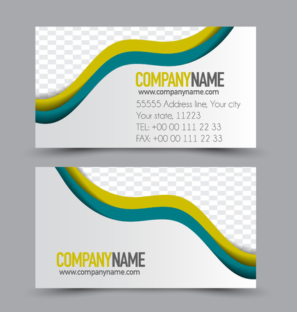 name calling: Business card design set template for company corporate style. Vector illustration.