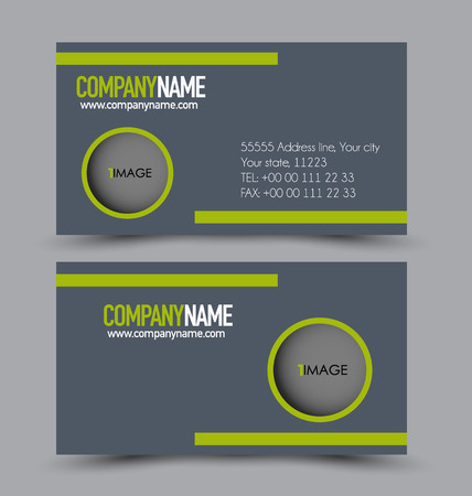 Business Card Design Set Template For Company Corporate