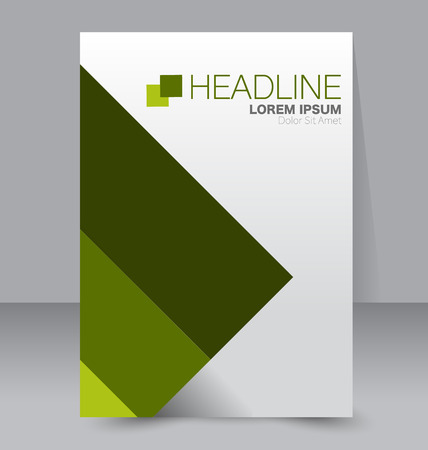 handout: Abstract flyer design background. Brochure template. To be used for magazine cover, business mockup, education, presentation, report.  Green color.