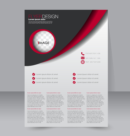 handout: Abstract flyer design background. Brochure template. For magazine cover, business mockup, education, presentation, report. Vector illustration.
