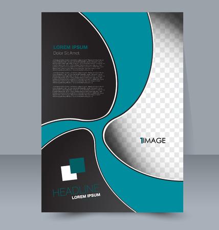 handout: Abstract flyer design background. Brochure template. For magazine cover business mockup education presentation report. Vector illustration. Blue and black color. Illustration