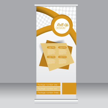 Roll up banner stand template. Abstract background for design,  business, education, advertisement. Vector  illustration. Illustration