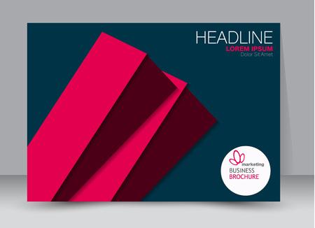 Flyer, brochure, billboard template design landscape orientation for education, presentation, website. Blue and red color. Editable vector illustration. Illustration