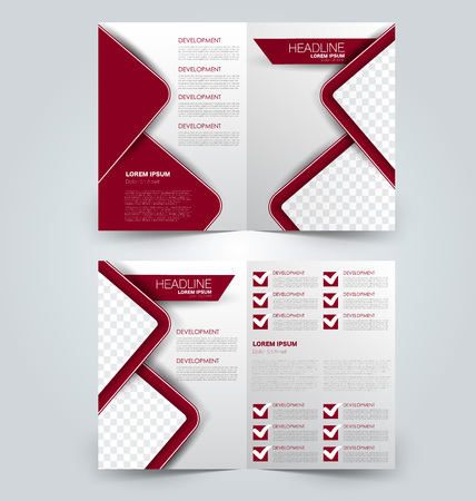 Abstract flyer design background. Brochure template. Can be used for magazine cover, business mockup, education, presentation, report. Red color. Illustration