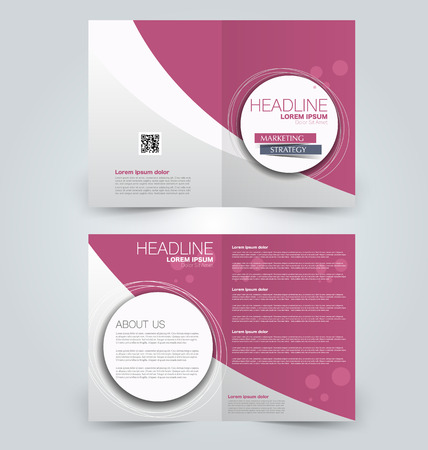 Abstract flyer design background. Brochure template. Can be used for magazine cover, business mockup, education, presentation, report. Pink color.