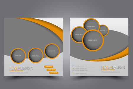 Square Flyer Template Brochure Design Annual Report Poster Leaflet Cover For Business